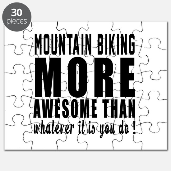 Mountain Biking More Awesome Designs Puzzle