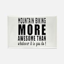 Mountain Biking More Awesome Desi Rectangle Magnet