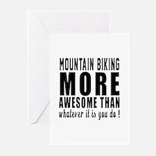 Mountain Biking More Awe Greeting Cards (Pk of 10)