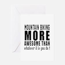 Mountain Biking More Awesome Designs Greeting Card