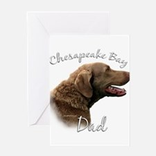 Chessie Dad2 Greeting Card