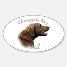 Chessie Dad2 Oval Decal