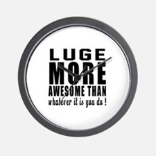 Luge More Awesome Designs Wall Clock