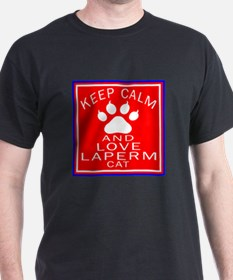 Keep Calm And LaPerm Cat T-Shirt
