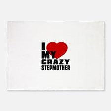 I Love Stepmother 5'x7'Area Rug