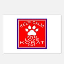 Keep Calm And Korat Cat Postcards (Package of 8)