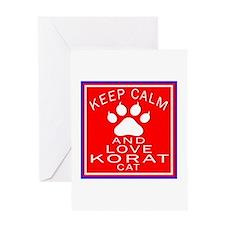 Keep Calm And Korat Cat Greeting Card