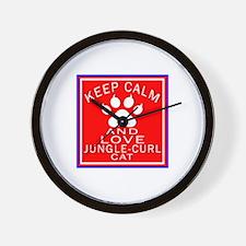 Keep Calm And Jungle-curl Cat Wall Clock