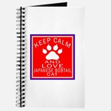 Keep Calm And Japanese Bobtail Cat Journal