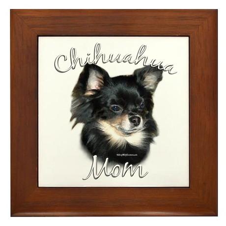 Chihuahua Mom2 Framed Tile