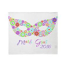 Mardi Gras 2016 Throw Blanket