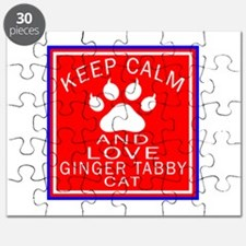 Keep Calm And Ginger tabby Cat Puzzle