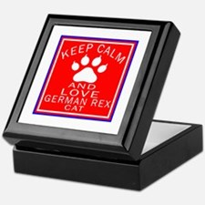 Keep Calm And German Rex Cat Keepsake Box