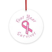 Four Year Survivor Ornament (Round)
