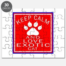 Keep Calm And Exotic Cat Puzzle