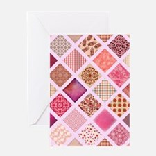 CRAZY QUILT Greeting Cards