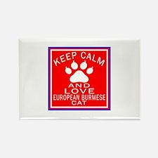 Keep Calm And European Burmese Ca Rectangle Magnet