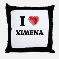 I Love Ximena Throw Pillow