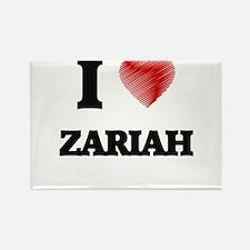 I Love Zariah Magnets