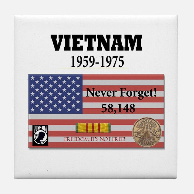 Never Forget Tile Coaster