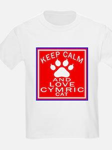 Keep Calm And Cymric Cat T-Shirt