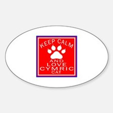 Keep Calm And Cymric Cat Decal