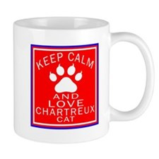 Keep Calm And Chartreux Cat Small Mug