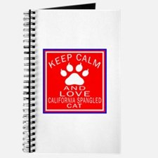 Keep Calm And California Spangled Cat Journal