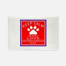 Keep Calm And California Spangled Rectangle Magnet
