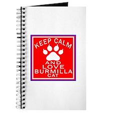 Keep Calm And Burmilla Cat Journal