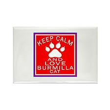 Keep Calm And Burmilla Cat Rectangle Magnet