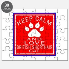 Keep Calm And British Shorthair Cat Puzzle