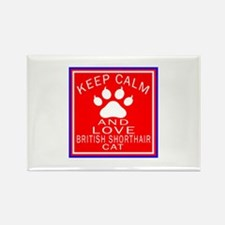 Keep Calm And British Shorthair C Rectangle Magnet