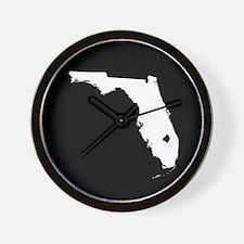 florida white black Wall Clock