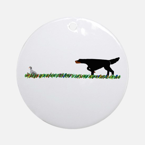 Gordon Setter in the Field II Ornament (Round)