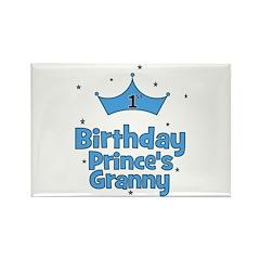 1st Birthday Prince's Granny! Rectangle Magnet