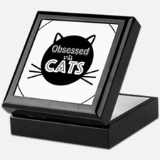Obsessed with Cats Keepsake Box