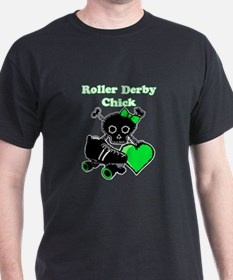 Roller Derby Chick (Green) T-Shirt