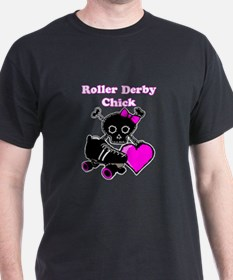 Roller Derby Chick (Pink) T-Shirt