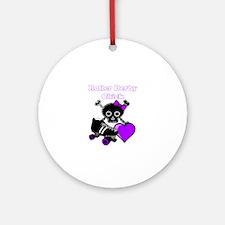 Roller Derby Chick (Purple) Round Ornament