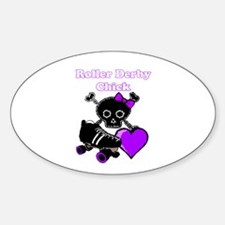 Roller Derby Chick (Purple) Decal