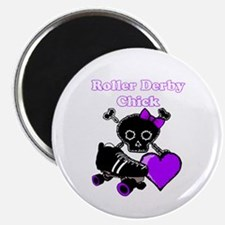 Roller Derby Chick (Purple) Magnets