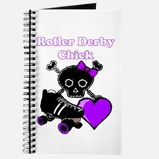 Roller Derby Chick (Purple) Journal