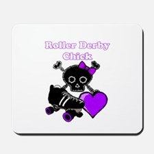 Roller Derby Chick (Purple) Mousepad