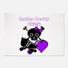 Roller Derby Chick (Purple) 5'x7'Area Rug