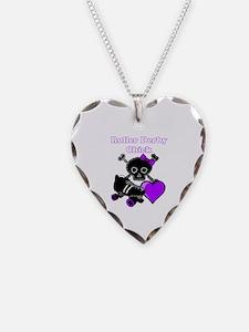 Roller Derby Chick (Purple) Necklace