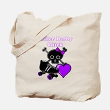 Roller Derby Chick (Purple) Tote Bag