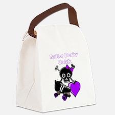 Roller Derby Chick (Purple) Canvas Lunch Bag