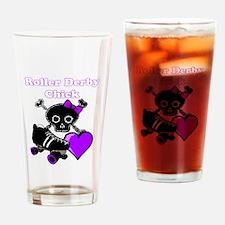 Roller Derby Chick (Purple) Drinking Glass