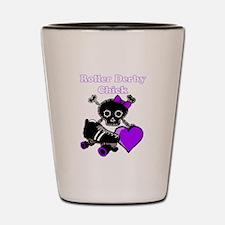 Roller Derby Chick (Purple) Shot Glass